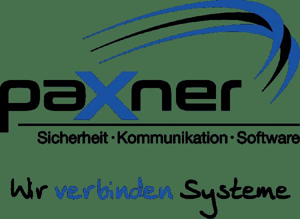 Logo und Slogan der Firma paxner - Wir verbinden Systeme